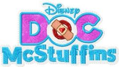 Doc McStuffins logo embroidery design