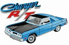 Dodge Charger R/T car embroidery design