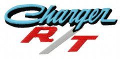 Dodge Charger R/T logo embroidery design