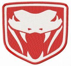 Dodge Viper Fangs embroidery design
