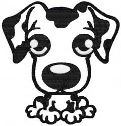 Dog Applique 1 embroidery design