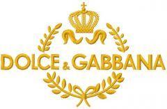 Dolce & Gabbana logo 2 embroidery design