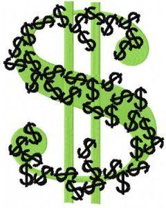 Dollar embroidery design