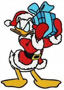 Donald's present embroidery design