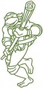 Donatello attacks 2 embroidery design