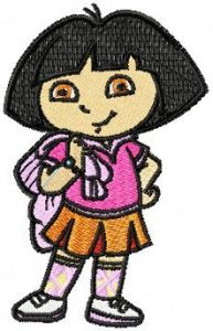 Dora the Explorer Happy embroidery design