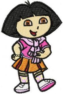 Dora the Explorer Scout 2 embroidery design