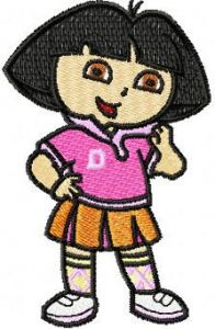 Dora the Explorer Scout embroidery design
