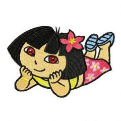 Dora the Explorer - Aloha embroidery design
