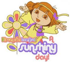 Dora sunshiny day embroidery design