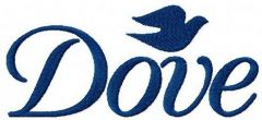 Dove logo embroidery design