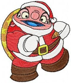 Dr. Jumba Jookiba with Christmas Gifts embroidery design