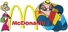 Dr. Jumba Jookiba and McDonalds Logo embroidery design