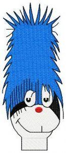 Dr. Seuss alphabet letter I embroidery design