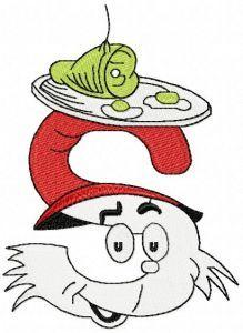 Dr. Seuss alphabet letter S embroidery design