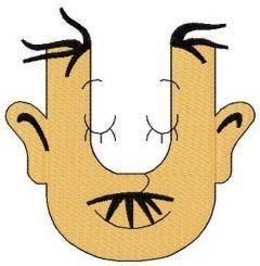 Dr. Seuss alphabet letter U embroidery design