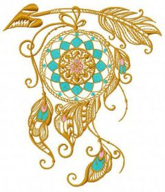 Dreamcatcher 14 embroidery design