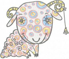 Dreaming Sheep embroidery design