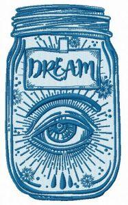 Dreams in jar embroidery design