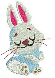 Dreamy bunny embroidery design
