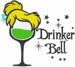 Drinker Bell embroidery design