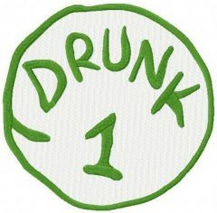 Drunk 1 embroidery design