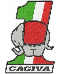 Ducati cagiva logo embroidery design