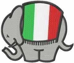 Ducati Elephant Logo embroidery design