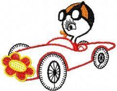 Driver Duck embroidery design