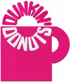 Dunkin donuts cup 1960 logo embroidery design