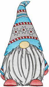 Dwarf knitted hat embroidery design