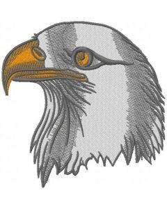 Eagle head embroidery design 2