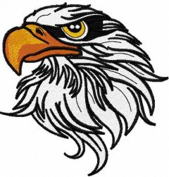 Eagle 12 embroidery design