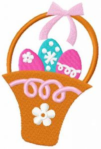 Easter basket free embroidery design