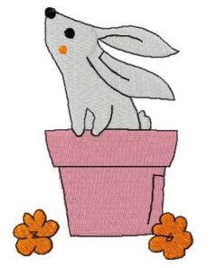 Easter bunny 3 embroidery design