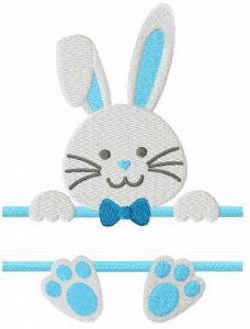 Easter bunny monogram free embroidery design