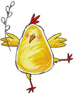 Easter chicken 3 embroidery design