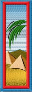 Bookmark Egypt embroidery design
