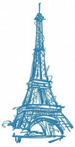 Eiffel Tower 3 embroidery design