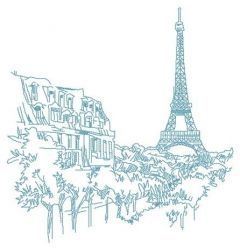Eiffel Tower 4 embroidery design
