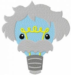 Einstein bulb lamp free embroidery design