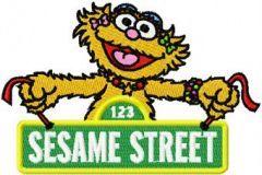 Elmo Invites embroidery design