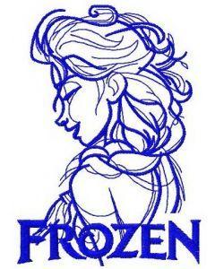 Elsa sketch 10 embroidery design
