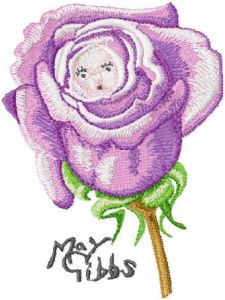 Flower Baby embroidery design