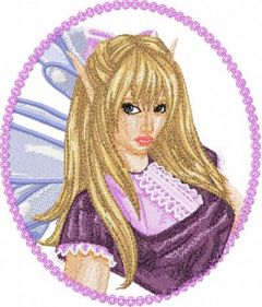 Modern Fairy 3 embroidery design