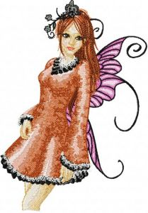Modern Fairy 4 embroidery design