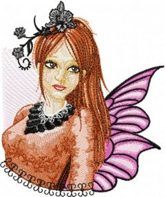 Modern Fairy 5 embroidery design