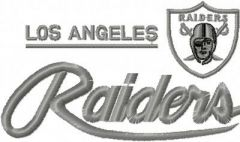Los Angeles Raiders Logo embroidery design