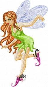 Pixie embroidery design