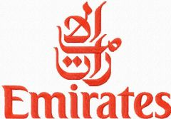 Emirates Airlines logo embroidery design